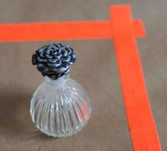 vintage perfume bottle // floral top $18.00