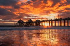 Huntington Beach, California, Celestial, Sunrises, Outdoor, Outdoors, Sunrise, Outdoor Games, The Great Outdoors