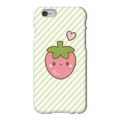 Cute Smiley Strawberry Kawaii iPhone 6 /5/5s/5c/4/4s Samsung Galaxy... ($17) ❤ liked on Polyvore featuring accessories, tech accessories, comic book and samsung