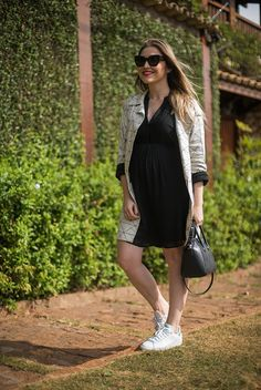 Look da Lu: trench levinho Bump Style, Pregnancy Outfits, Office Outfits, Maternity Fashion, Trench, Mom, Lifestyle, Female, Stylish