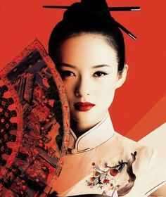 "Movie Star ""Zhang Ziyi"" via Oriental Qipao Dress... 