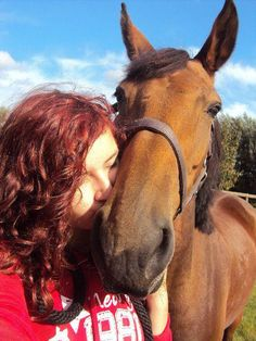 This horse is helping her to heal her depression.