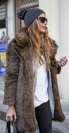 fur coat winter | layering fashion