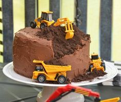 Chocolate cake and diggers!!