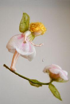 Flower Fairy-Mobile Waldorf inspirierte Nadel Felted: von MagicWool