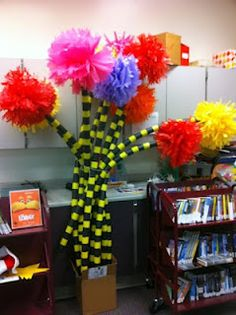 Truffula Trees for Read Across America and The Lorax