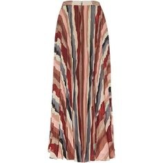 Alice + Olivia Shannon Pleated Maxi Skirt (27.890 RUB) ❤ liked on Polyvore featuring skirts, bottoms, maxi skirt, saias, red pleated maxi skirt, high-waist skirt, maxi skirts, high waisted long skirts and multi color maxi skirt