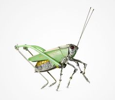 Artist Creates Amazing Insect Sculptures Using Nothing But Old Car Parts and Scrap Metal