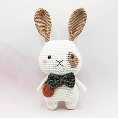 This is a PDF crochet pattern, not a finished doll. Rey the little bunny is written in ENGLISH, KOREAN Two bunny head included - Size approx: inch). - Yarn: Sport or Dk light weight yarn. ( I used Yarn Art Jeans ) - Hook: Crochet Bunny, Easy Crochet, Crochet Toys, Silver Tabby Cat, Cat Amigurumi, Birthday Gifts For Kids, Pattern Making, Baby Knitting, Crochet Patterns