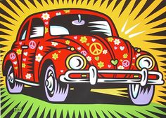 Pop Art VW Flower Power