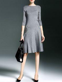 Knitting Wool blend Two Piece Midi dress