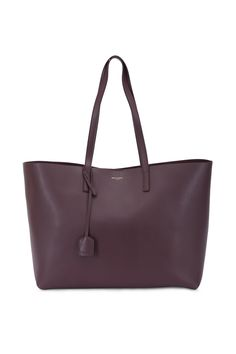 Burgundy Leather Large Shopper Tote