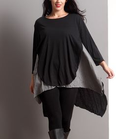 Look what I found on #zulily! Black & Gray Layered Shirt Tunic - Plus #zulilyfinds