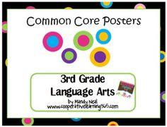 Common Core Posters - 3rd Grade Language Arts & Math Bundle