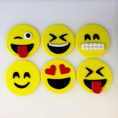 Emoji Inspired Toppers Cupcake Toppers by KedulceSugarDesigns