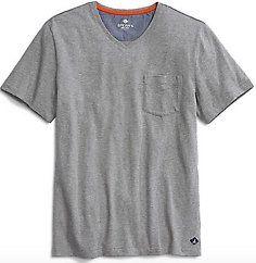 Men's V-Neck Pocket T-Shirt (Heather Grey)