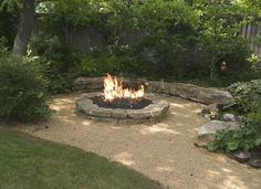 lugar de fuego para el jardín