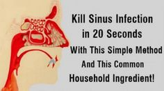 Remove Sinus Infection In 20 Seconds With A Kitchen Ingredient