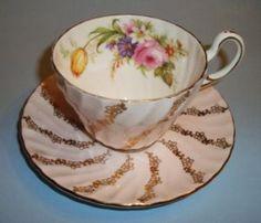 foley swirl cup & saucer