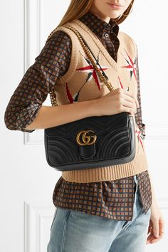 Gucci | GG Marmont 2.0 small quilted leather shoulder bag | NET-A-PORTER.COM