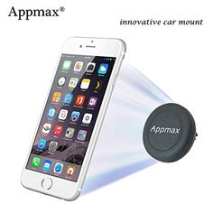 Appmax® Innovative Air Vent Car Mount Sturdy Magnetic Holder for All Smartphone Iphone 6 Plus.Samsung Galaxy S5 S6,tablets ,Gps Devices Appmax http://www.amazon.com/dp/B00YE9SY8S/ref=cm_sw_r_pi_dp_cdy1vb0SE3A9F