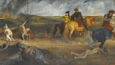 Edgar Degas 'Scene of War in The Middle Ages' oil on canvas