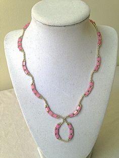 Beautiful tila beaded necklace