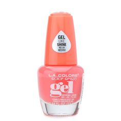 Color Craze Extreme Shine Gel Polish shines like a gel and wears like a polish. Glossy gel-like shine, easy removal, and no UV needed. Color: Stunner 0.44 fluid ounces By L.A. Colors
