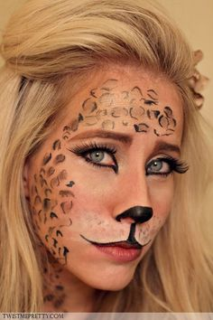 Leopard Makeup Tutorial - I think I'll do this for Halloween this year!