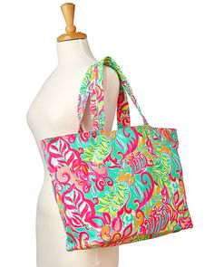 Lilly Pulitzer Beach Tote Bag- Meet Me at the Beach | Lilly ...