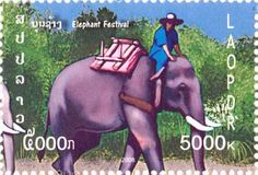 The Asian elephant is possibly Laos' most ionic, precious and respected species. This is demonstrated in the Government's issuing of elephant postage stamps. Using images from ElefantAsia's Elephant Festival, you don't have to be a fan of stamp collecting to still appreciate these beautiful pieces of artwork. You can also download a PDF image of all the stamps below. Enjoy!