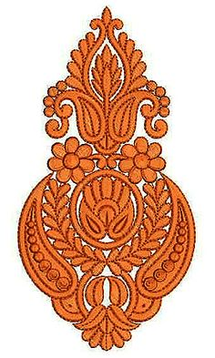 Blue Color Cotton Thread Patch Embroidery Design