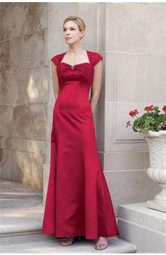 Satin Sleeveless Reds A-line Bridesmaid Dresses - Bridesmaid Dresses - OuterInner.com