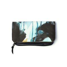Oyster foldover clutch bag // featuring painterly fabric designed by megan auman // handmade by eclu