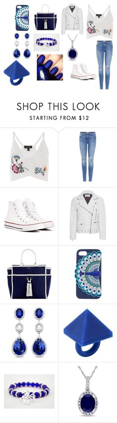"""""""Sans titre #1667"""" by heartss-13 ❤ liked on Polyvore featuring Topshop, Frame, Converse, Acne Studios, Melissa Odabash, Kate Spade, Marc by Marc Jacobs, Allurez and China Glaze"""
