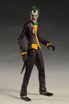 Batman Arkham Asylum Joker Action Figure (with Scarface) Series 1 Joker Arkham, Batman Arkham Asylum, Fantasy Heroes, Fantasy Comics, Dc Action Figures, Geek Toys, Joker And Harley Quinn, Figure Model, Cosplay