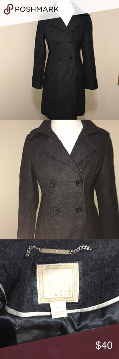 NEW Old Navy Wool Peacoat. Charcoal Grey NWOT Old Navy Charcoal Wool Peacoat with polyester lining. Beautiful!  Top 10% Seller/ Fast Shipper! 📦💌 Top-Rated Seller ⭐️⭐️⭐️⭐️⭐️ Old Navy Jackets & Coats Pea Coats