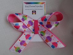 Colorful Cupcakes Hairbow by stayhomecupcake on Etsy, $4.00