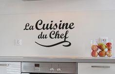 La cuisine du chef pour mur et crédence. #DIY #Stickerscuisine http://urlz.fr/VFy
