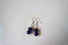 Blue Earrings Beaded Earrings Dangle Earrings Blue Jewelry