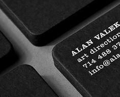 Alan Valek Business Card by Alan Valek (via Creattica)