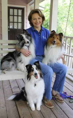 How about me and my dogS? I didn't pick any of my Sheltie boys myself; they were rescues or given to me.  But I wouldn't trade them for anything!