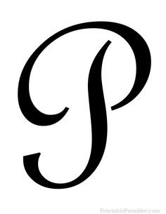 Printable Letter P in Cursive Writing