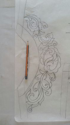 This Pin was discovered by Nah Tambour Embroidery, Embroidery Motifs, Embroidery Patterns Free, Ribbon Embroidery, Floral Embroidery, Sewing Patterns, Embroidery Neck Designs, Sewing Art, Stencil Designs