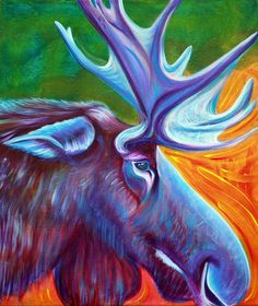 Moose Art Prints by Laura Barbosa - Shop Canvas and Framed Wall Art Prints at Imagekind.com