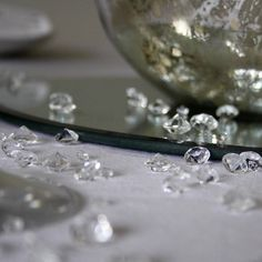 table scatter crystals by the wedding of my dreams | notonthehighstreet.com