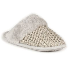 Fabulously soft and thick sheepskin interior, with that lush knitted outer. I *want*>  Addington Sheepskin Slippers Grey