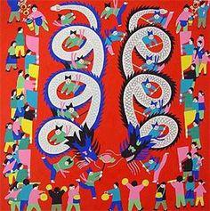 Folk Painting - Dragon Dance US$19.95