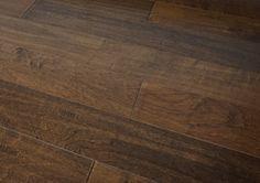 Everyday Flooring 5  x 1/2  Solid Engineered Hardwood Wood Flooring Hand Scraped Walnut Brown SAMPLE