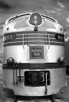 Burlington Route EMD locomotive #9913